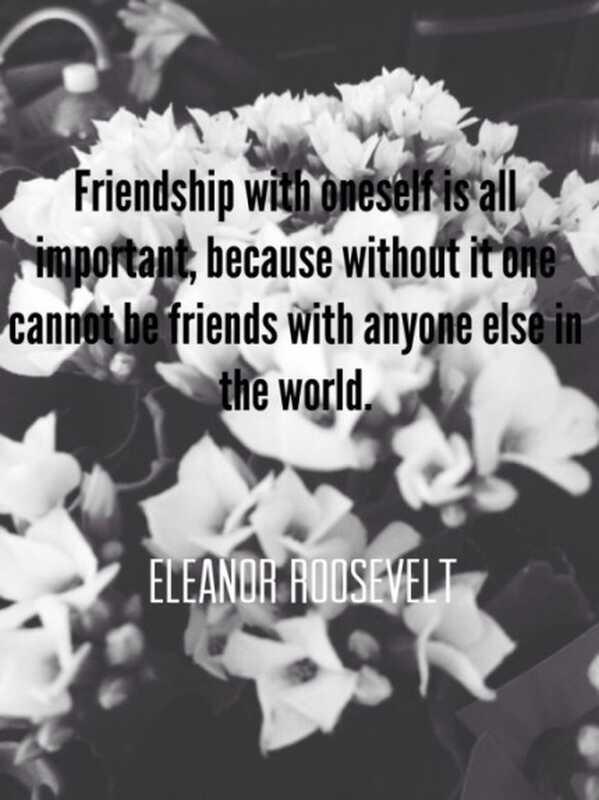 Οικοδομώντας μια φιλία με τον εαυτό σας