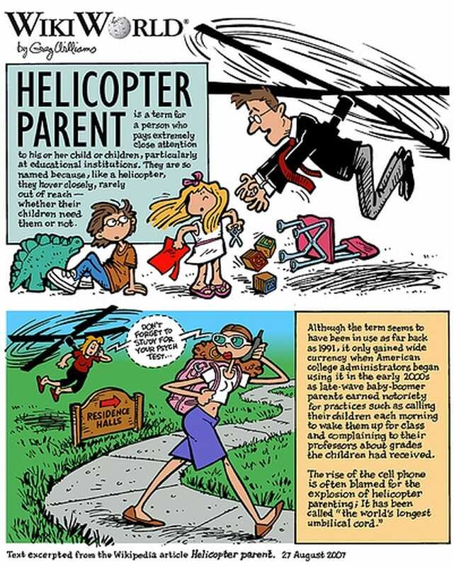 Ang helikopter parent - ang helicoptered child