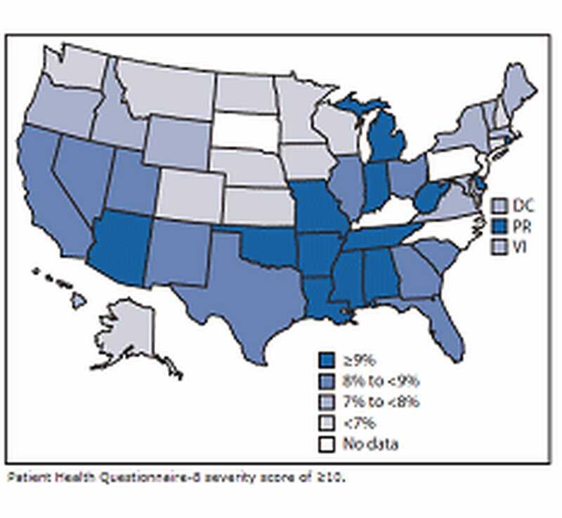 Cdc statistika: duševní onemocnění v nás